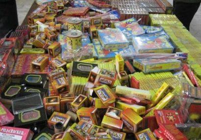 کشف بیش از ۹ هزارعدد مواد محترقه در شهرستان بناب
