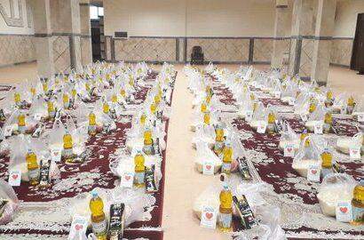 توزیع ۱۵۰ بسته غذایی توسط حوزه علمیه خواهران بناب
