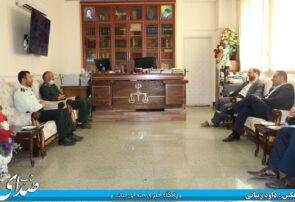 دیدار اعضای شورای تامین شهرستان بناب با دادستان و رئیس دادگستری بناب+ تصاویر