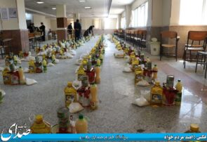 توزیع بیش از ۱۰۰ بسته غذایی بین نیازمندان+ تصاویر
