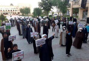 تجمع طلاب و روحانیون حوزه علمیه بناب در محکومیت اهانت به پیامبر مهربانیها + تصاویر