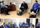 دیدار نماینده مردم شریف بناب در مجلس شورای اسلامی با امین رفیعی مدیرعامل شرکت گسترش فولاد شهریار