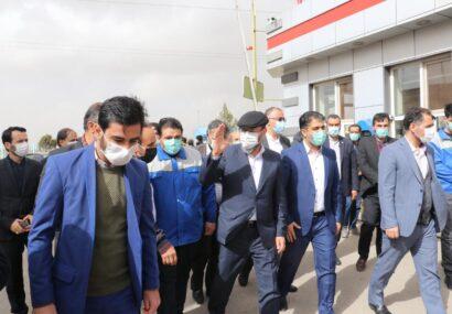 بازدید سردار حسین دهقان مشاور مقام معظم رهبری  از مجتمع فولاد ظفر بناب + تصاویر