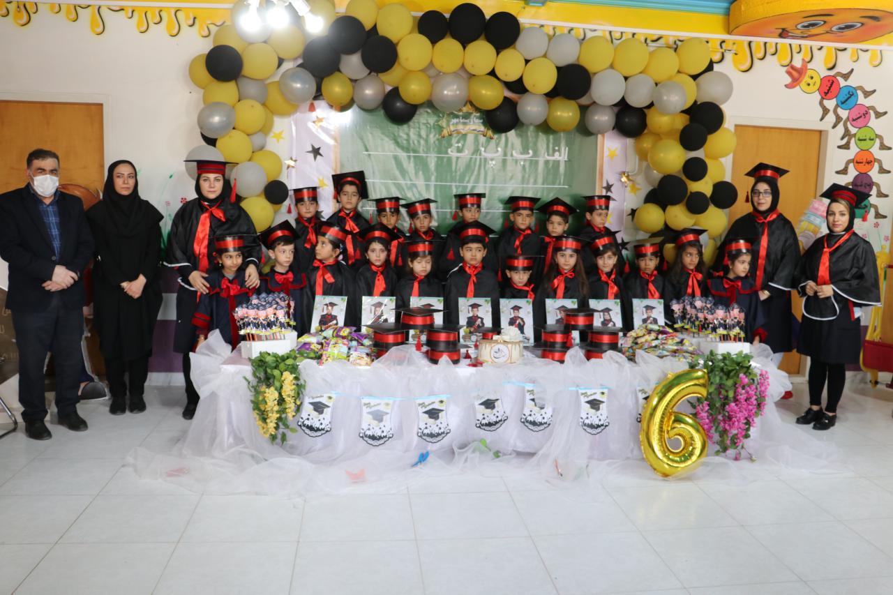 مراسم فارغ التحصیلی کودکان پیش دبستانی سما و  سما مهر برگزار شد+ تصاویر