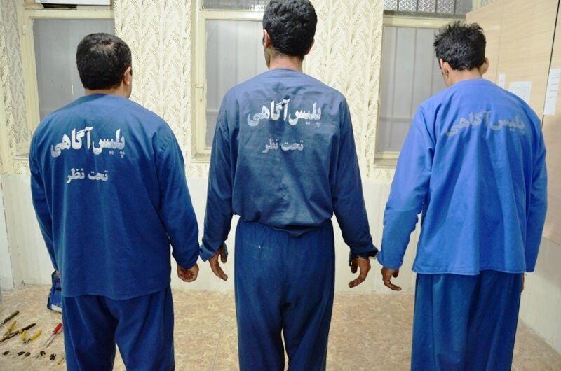 """دستگیری 3 سارق حرفه ای با 13 فقره سرقت در """"بناب"""""""