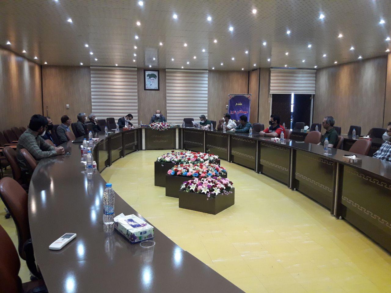 جلسه هماهنگی هئیت های مجاز به فعالیت در بناب برگزار شد .