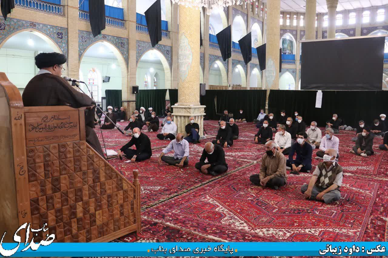 مراسم عزاداری شهادت امام محمد باقر (ع) در بناب برگزار شد