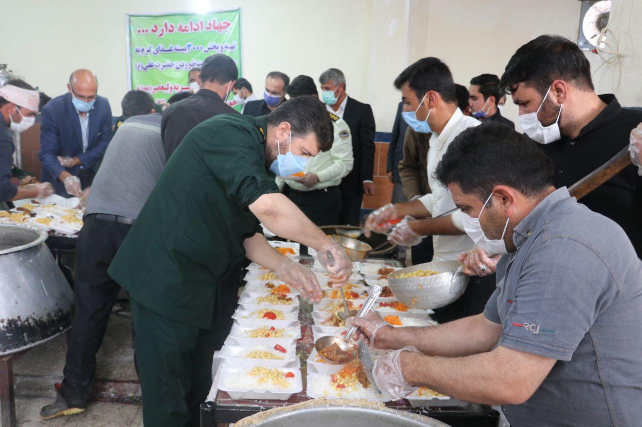 توزیع بیش از 3 پرس غذای گرم در روستای قره چپق+ تصاویر