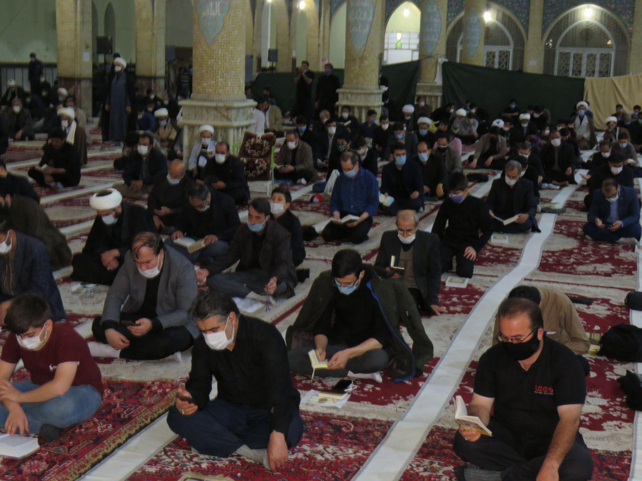 مراسم احیای سومین شب از لیالی قدر در شهرستان بناب برگزار شد+ تصاویر