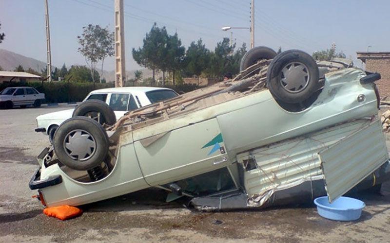 واژگونی خودرو در محور بناب _ مراغه یک کشته و یک مجروح برجا گذاشت