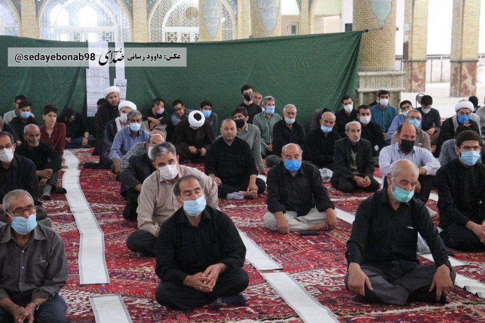 سوگواری مردم متدین شهرستان بناب همزمان با شهادت امام محمد باقر (ع) + تصاویر