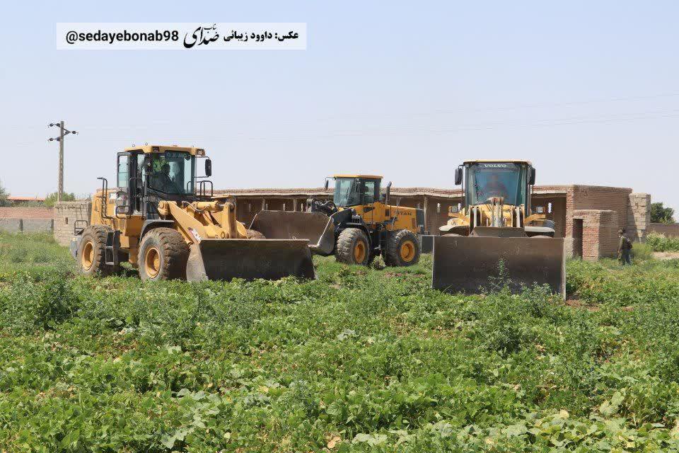 معدوم سازی بیش از 10 هکتار از مزارع تحت کشت با آب فاضلاب در شهرستان بناب+ تصاویر
