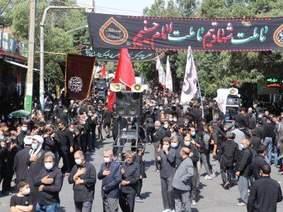 مراسم عزاداری عاشورای حسینی در شهرستان بناب برگزار شد+تصاویر