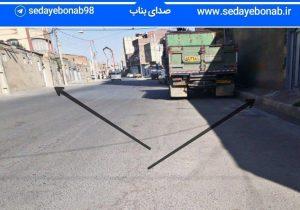 خیابان ملاصدرا به طرف تقاطع خیابان فرهنگ بناب پیاده رو ندارد!!