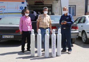 اهدای ۵ عدد کپسول اکسیژن به ارزش بیش از ۱۷۰ میلیون ریال به بیمارستان امام ره بناب+ تصاویر