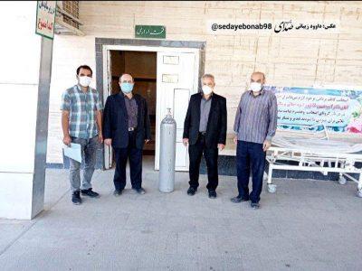 اهدای یک عدد کپسول ۴۰ لیتری اکسیژن به بیمارستان امام خمینی ره بناب